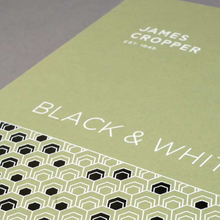 Plain Creative Project - Black and White swatch book cover