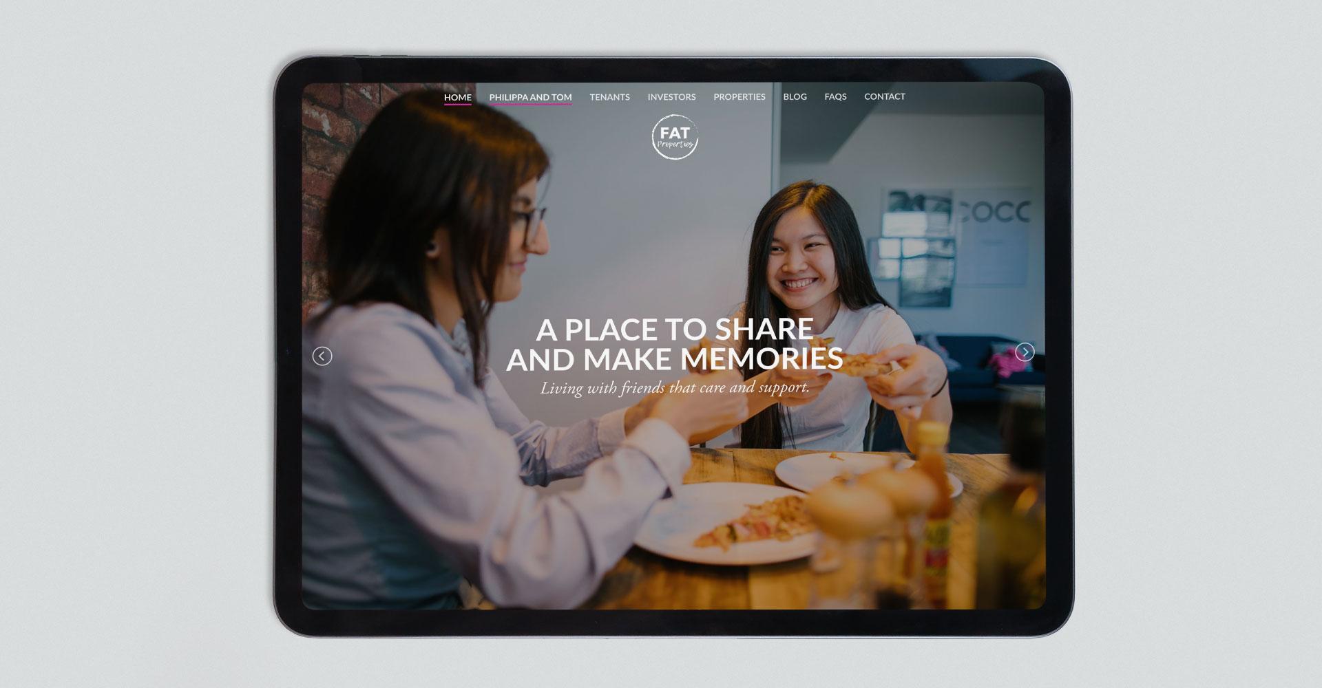 FAT Properties Lancaster Website iPad
