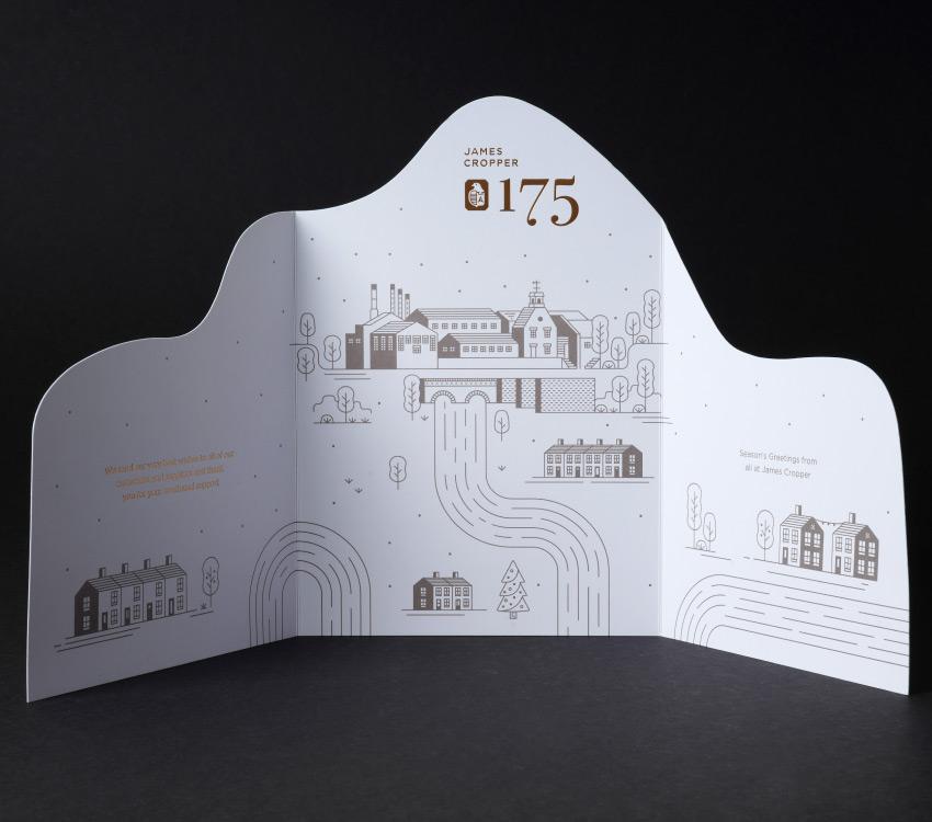 Plain Creative James Cropper Christmas Card open spread