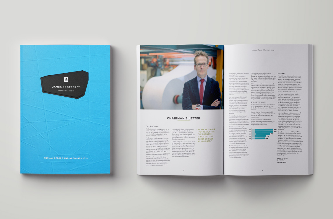 James Cropper Annual Report 2019 Archive Spread 2019