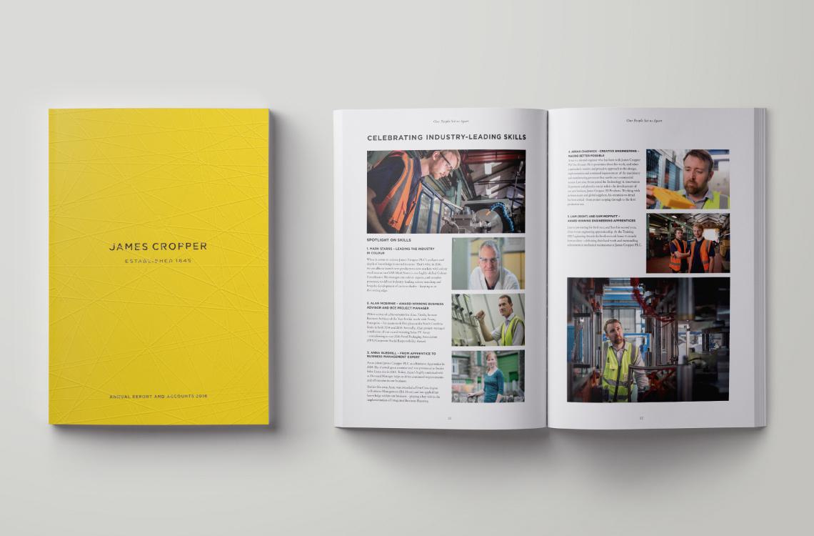 James Cropper Annual Report Archive Spread 2016