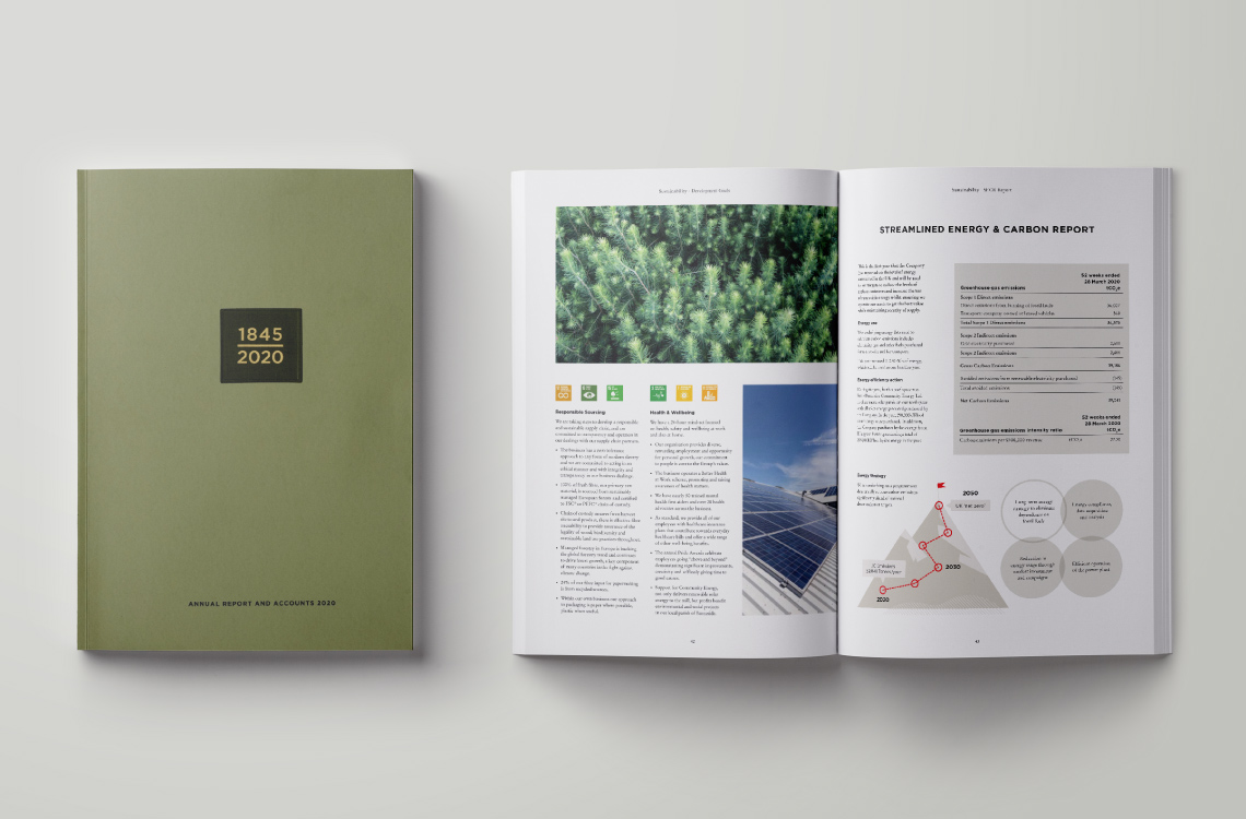 James Cropper Annual Report Archive Spread 2020