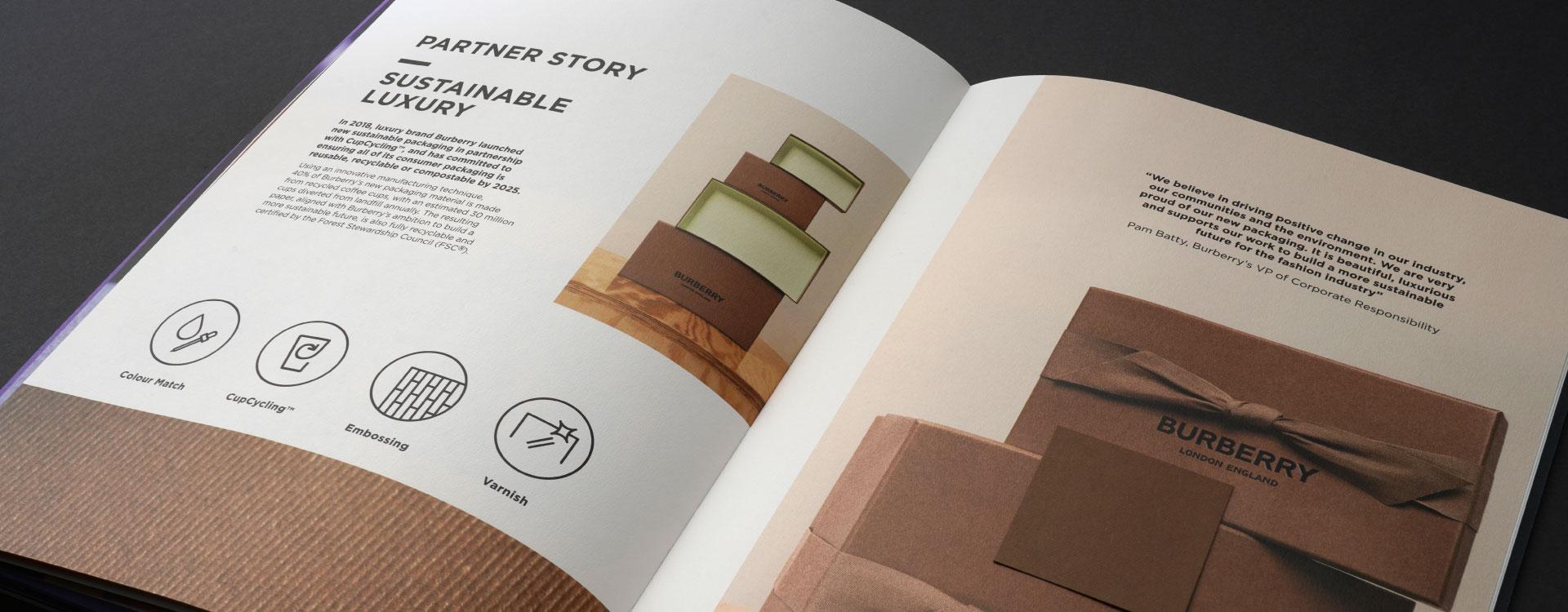 James Cropper Tailor Made Service brochure partner story spread