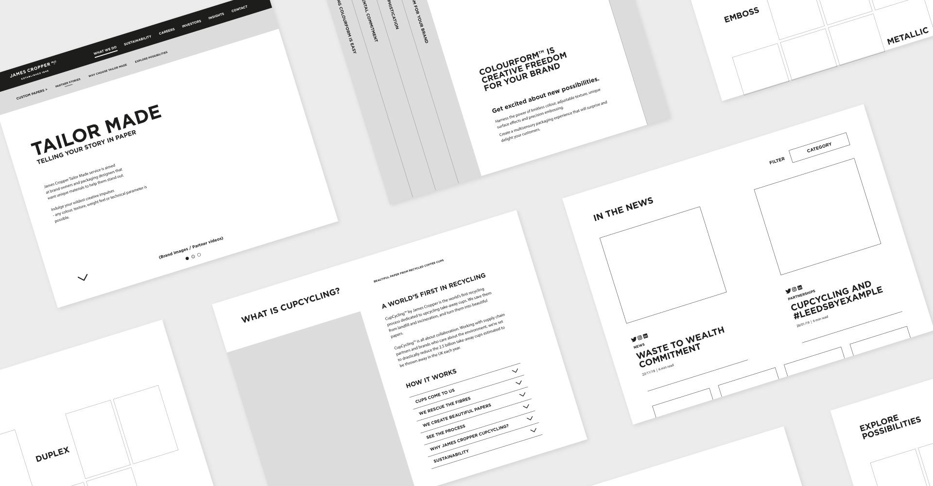 Plain Creative Project - James Cropper PLC Website 6