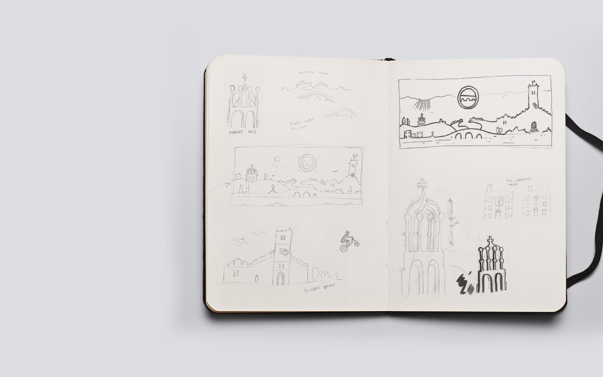 Kirkby Lonsdale Brewery lansdcape sketches