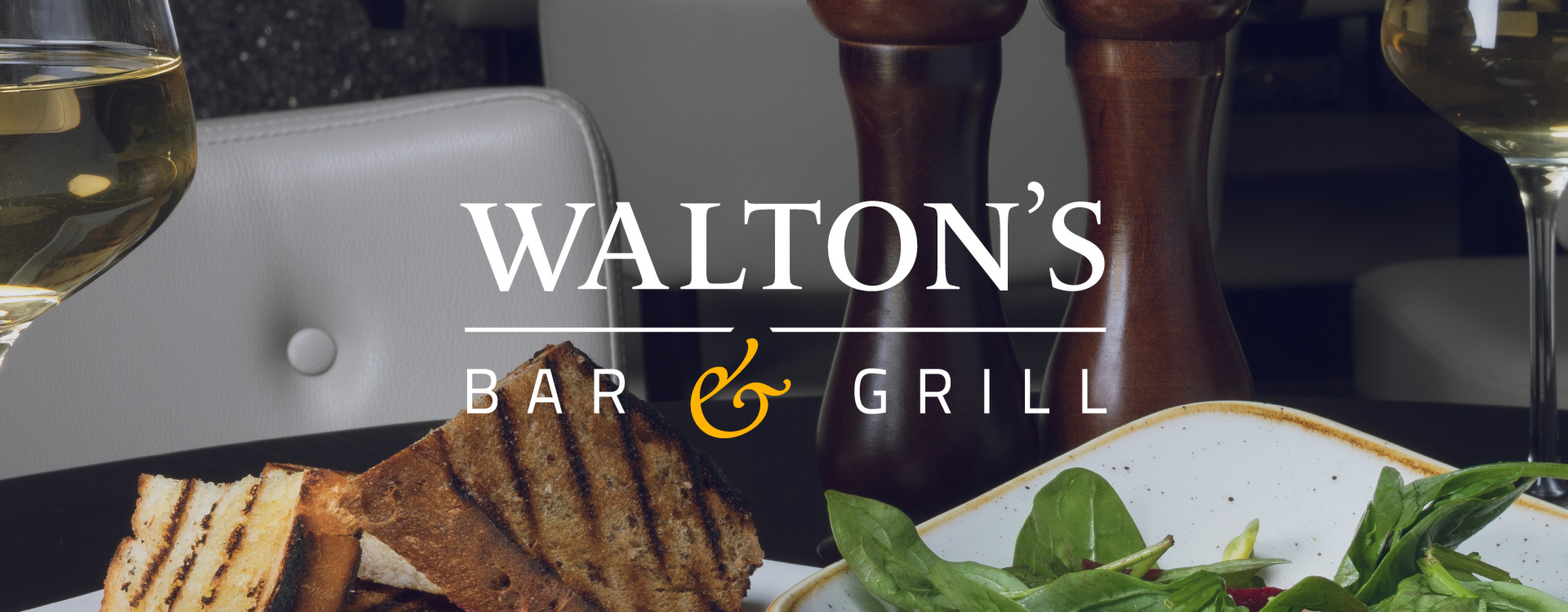 Plain Creative Project Waltons Bar and Grill - intro logo image