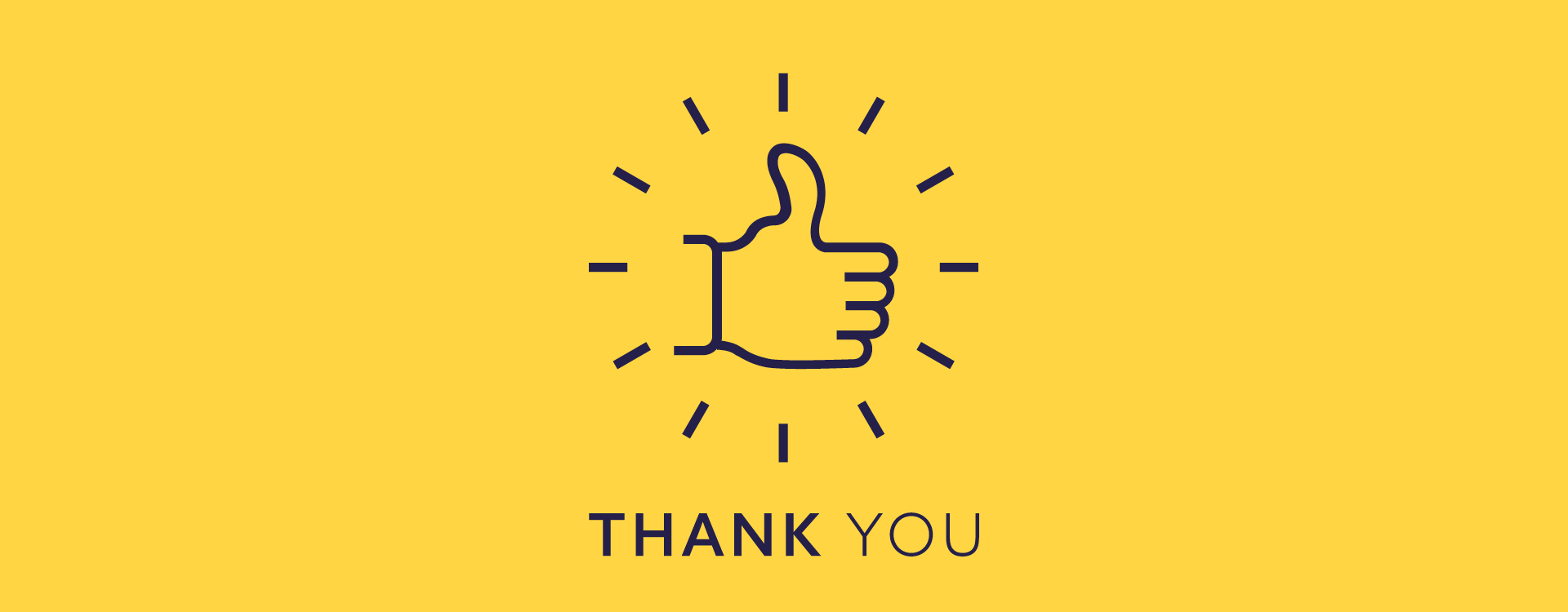 Milne Moser Internal Comms Thank You Thumbs Up