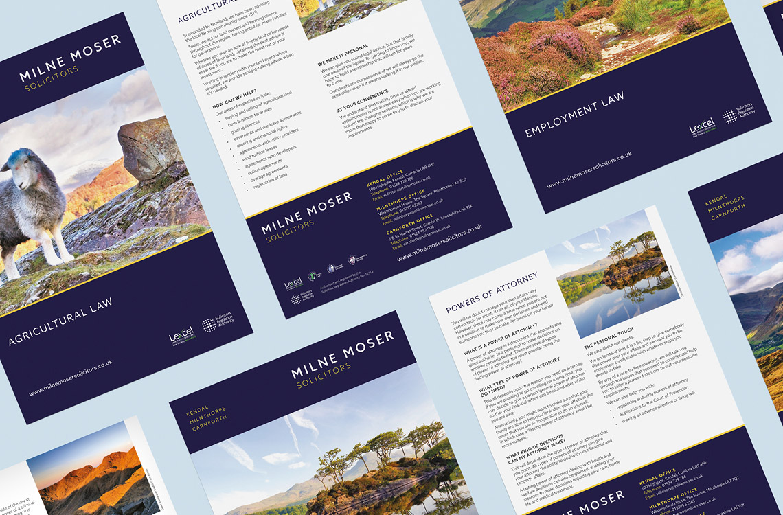 Milne Moser Solicitors Service Sheets