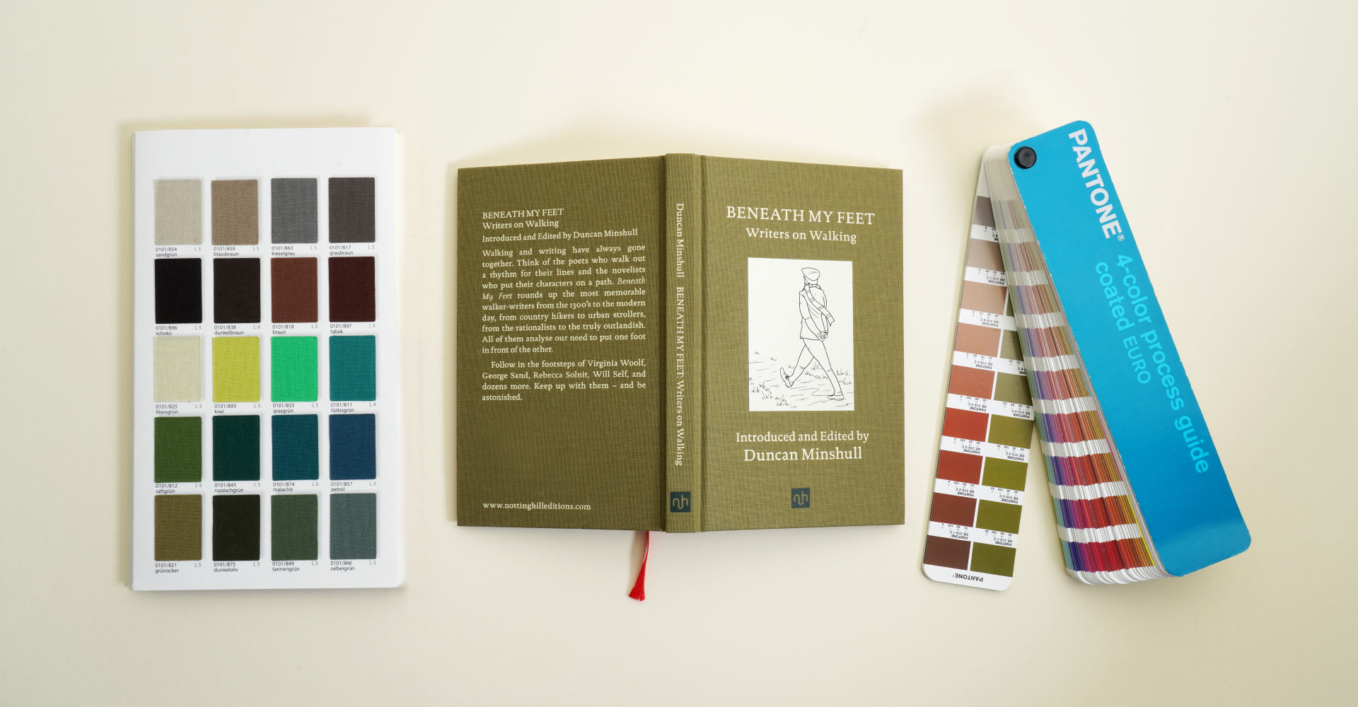 Notting Hill Editions cover with swatch books
