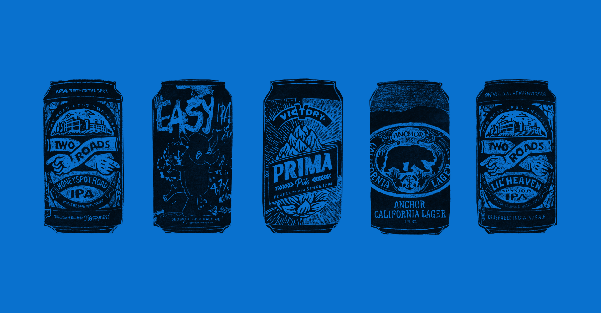 James Clay American Craft IPA can illustrations